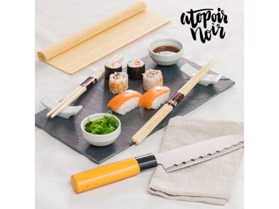 Conjunto para Sushi com Bandeja de Ardósia Atopoir Noir (9 Peças)