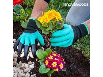 Luvas de Jardinagem com Garras para Cavar InnovaGoods