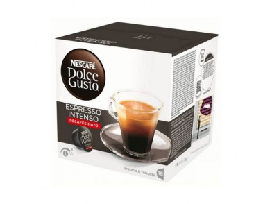 Cápsulas de Café com Estojo Nescafé Dolce Gusto 60924 Espresso Intenso Decaffeinato (16 uds)