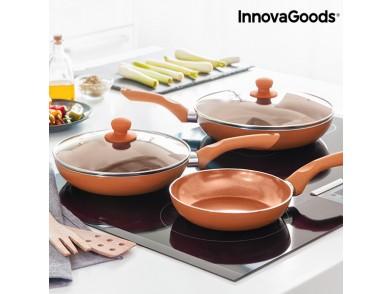 Conjunto de Frigideiras Copper-Effect InnovaGoods (5 Peças)