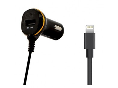 Carregador de Carro Ref. 138222 USB Cable Lightning Preto