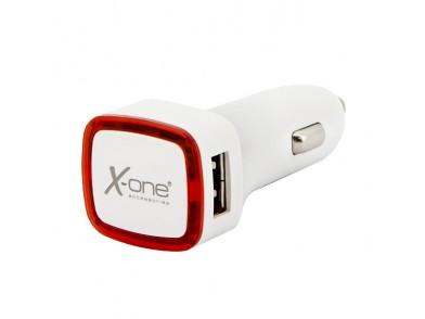 Carregador de Carro Ref. 138390 2 x USB-A Branco Vermelho