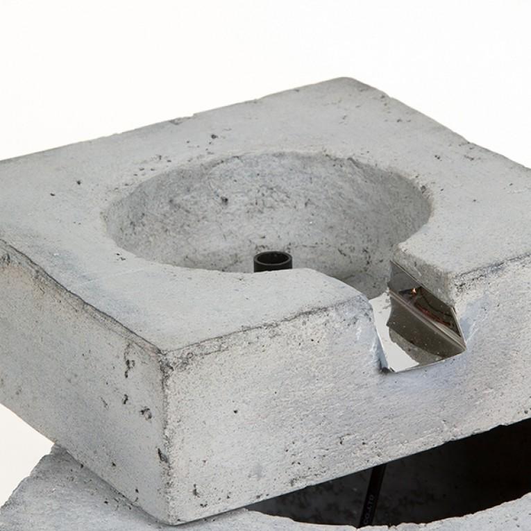 Fonte de Jardim (36,5 x 34,5 x 23,5 cm) Resina Cinzento