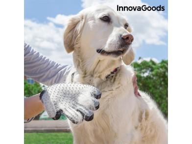 Luva para Escovar e Massajar Animais de Estimação InnovaGoods