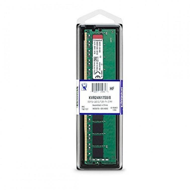 Memória RAM Kingston 8GB DDR4 2400MHz Module KVR24N17S8/8 8 GB DDR4 2400 MHz