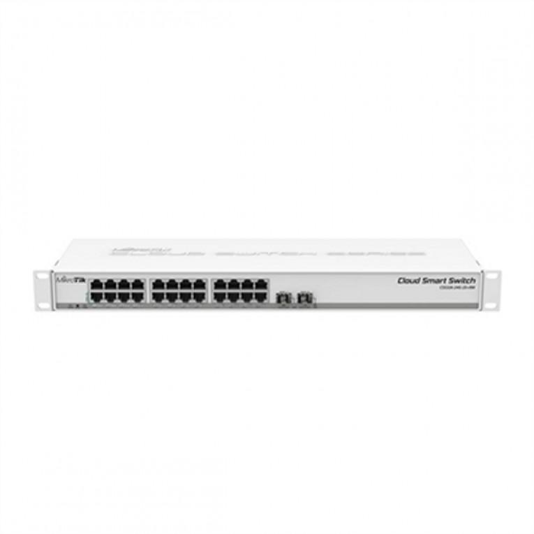 Switch de Armário Mikrotik CSS326-24G-2S+RM 2 MB 24 G 19W