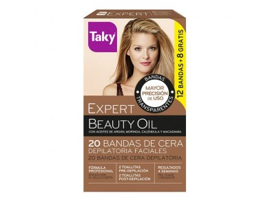 Cera Depilatória Facial Beauty Oil Taky (20 pcs)