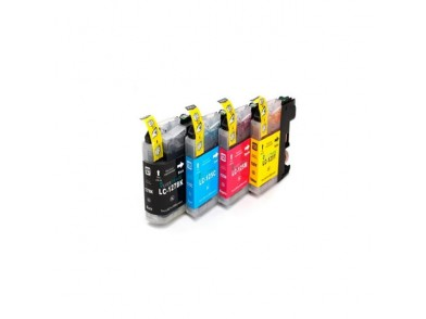 Cartucho de tinta reciclado Inkoem M-LC127BK Preto