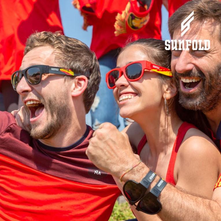 OUTLET Óculos de Sol Enroláveis Sunfold Spain Red (Sem embalagem)
