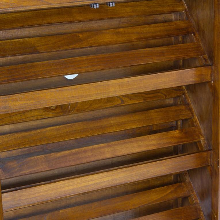 Sapateira (130 x 80 x 30 cm) Madeira de cedro - Serious Line Coleção