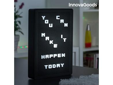 Quadro Perfurado para Inserir Letras LED InnovaGoods