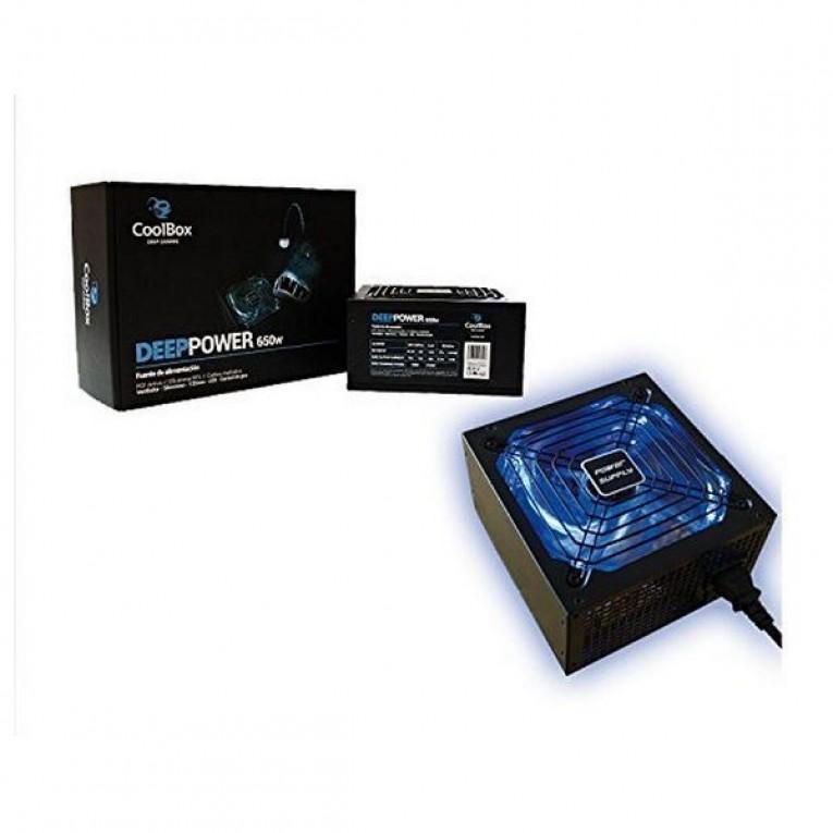 Fonte de Alimentação Gaming CoolBox DG-PWS650-85B 650W