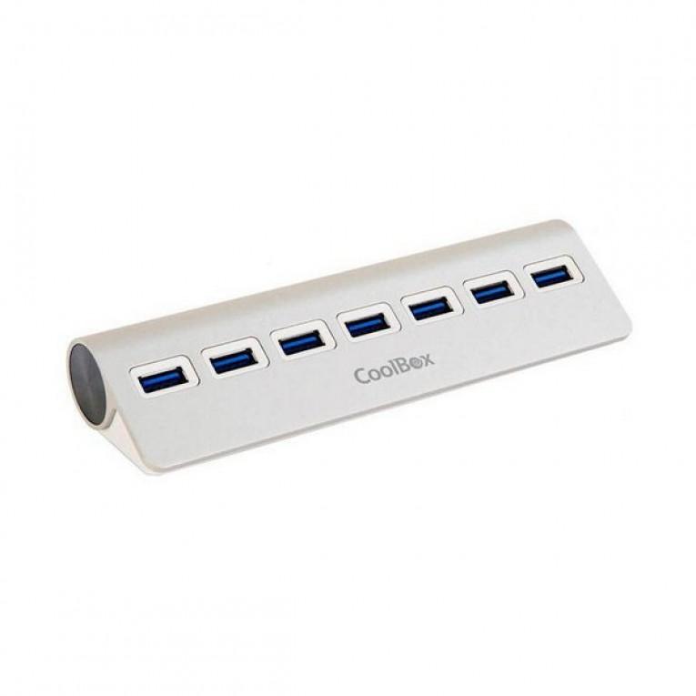 Hub USB CoolBox COO-HU7ALU3 Alumínio (7 portas)