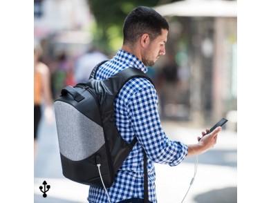 Mochila Antirroubo com USB e Compartimento para Tablet e Portátil 145947