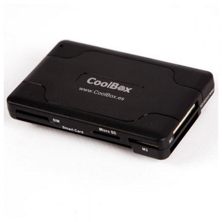 Leitor de cartões inteligentes CoolBox CRE-065 USB 2.0 Preto