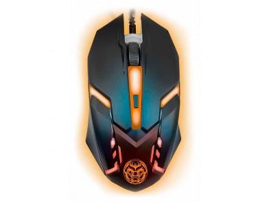 Rato Gaming iggual IGG315828 LED Preto Laranja