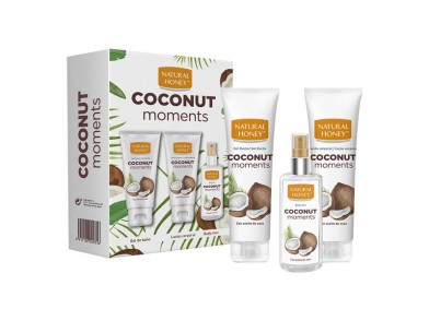 Conjunto de Cuidado Pessoal Coconut Moments Natural Honey (3 pcs)