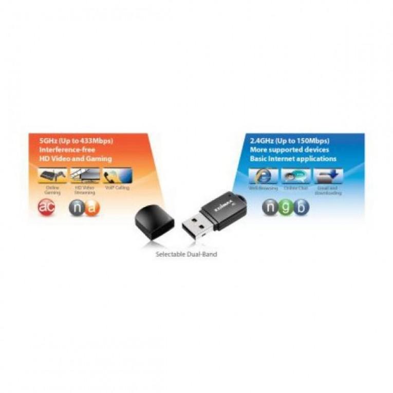 Mini Adaptador USB Wifi Edimax EW-7811UTC USB 2.0