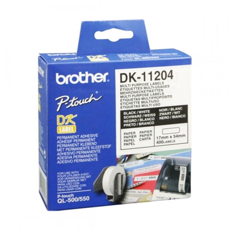 Etiquetas para Impressora Multiuso Brother DK11204 17 x 54 mm Branco
