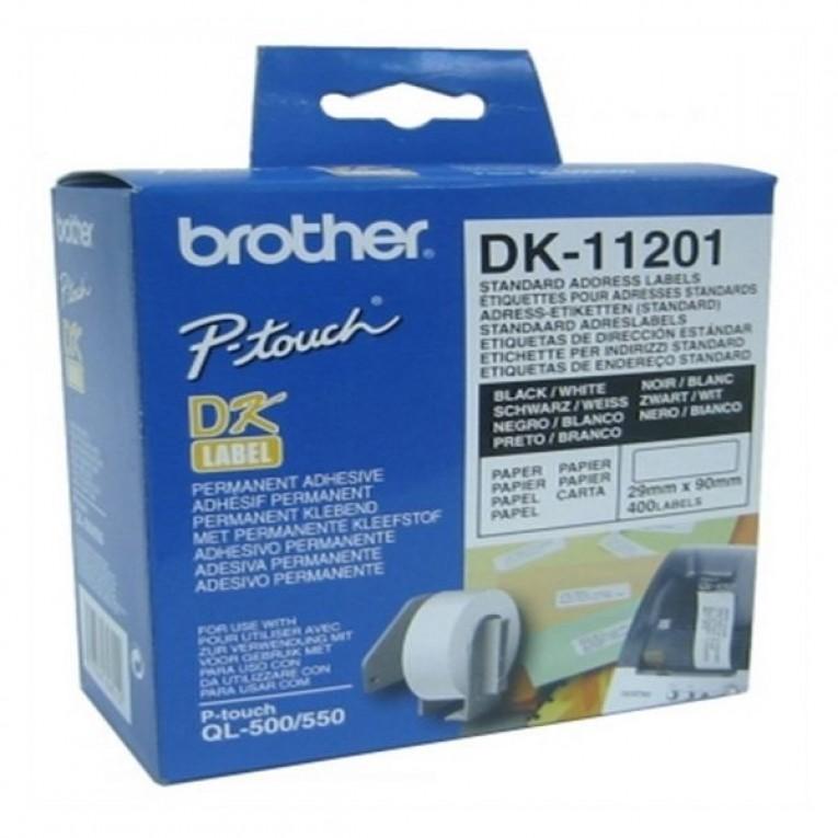 Etiquetas para Impressora Brother DK11201 29 x 90 mm Branco