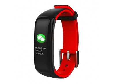"""Pulseira de Atividade BRIGMTON BSPORT-15-R 0,96"""" OLED 150 mAh Bluetooth 4.0 Vermelho"""