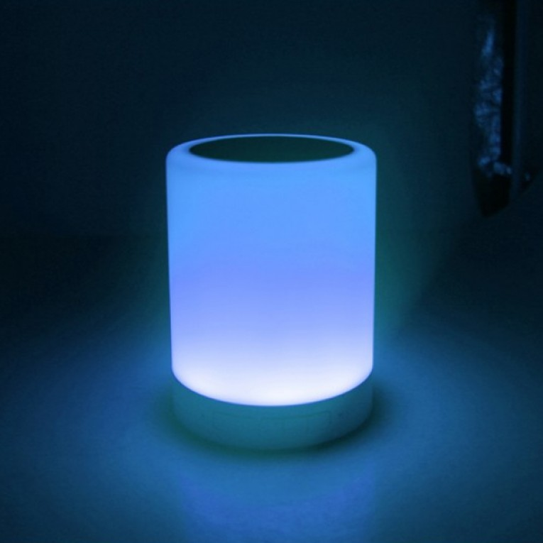 Altavoz Bluetooth com Candeeiro LED CoolBox COO-BTALED-R1 3W Branco