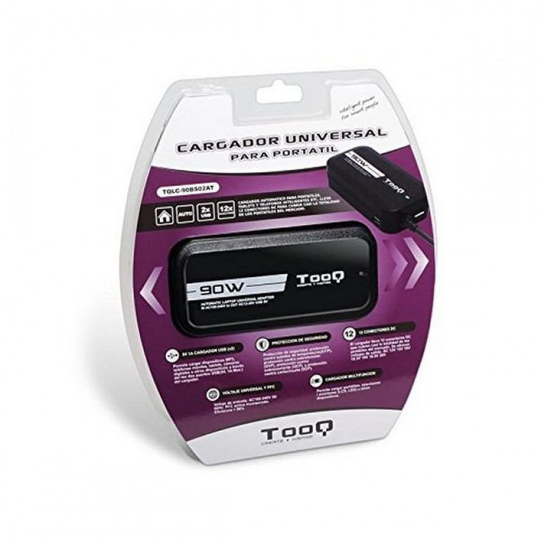 Carregador para Portátil TooQ TQLC-90BS02AT 90W Preto