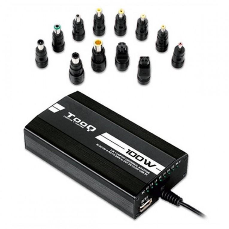 Carregador para Portátil TooQ TQLC-100BS01M LED 100W Preto
