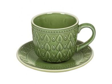 Chávena com Prato Natural (11 X 11 x 7 cm)