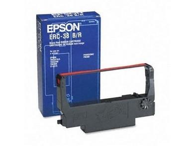 Fita de impressora de agulhas original Epson ERC-38BR Preto Vermelho