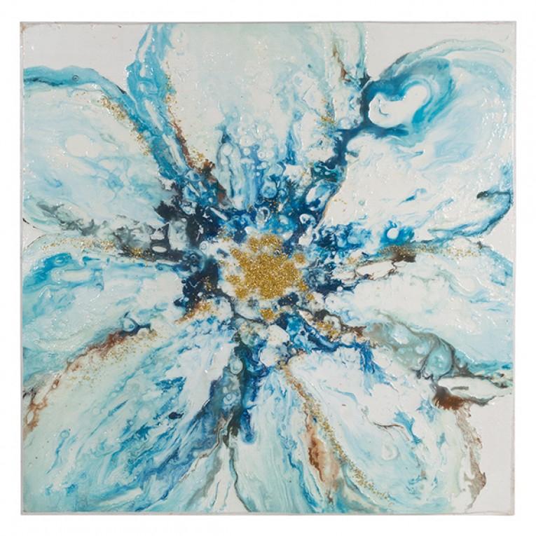 Pintura a Óleo Fleur (100 x 4 x 100 cm)