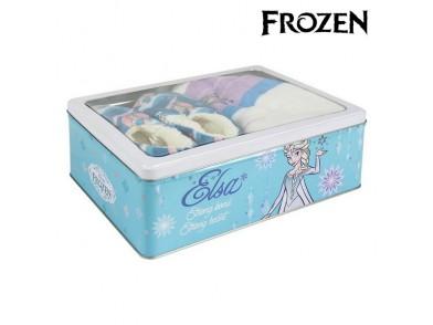 Caixa Metálica com Manta e Chinelos Frozen 73667