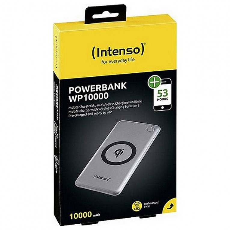 Power Bank sem Fios INTENSO 7342531 10000 mAh Prateado