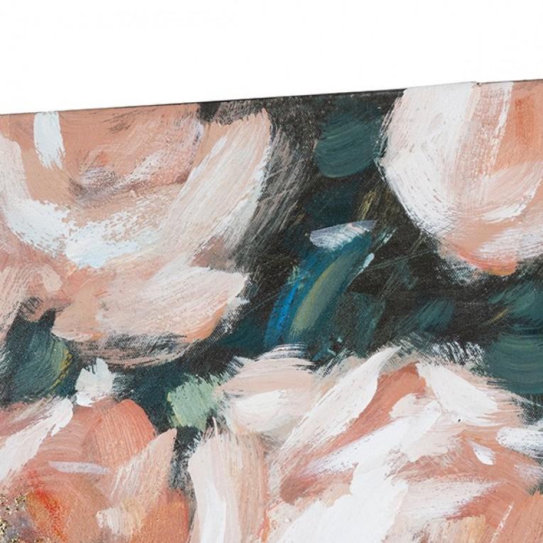 Pintura a Óleo Roses Madeira de pinho (80 X 4 x 100 cm)