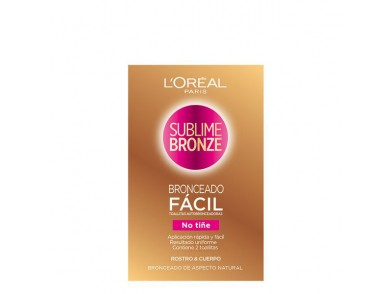 Toalhinhas Autobronzeadoras Sublime Bronze L'Oreal Make Up (2 uds)