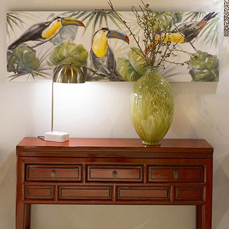 Pintura a Óleo Madeira de pinho (150 X 4 x 50 cm)