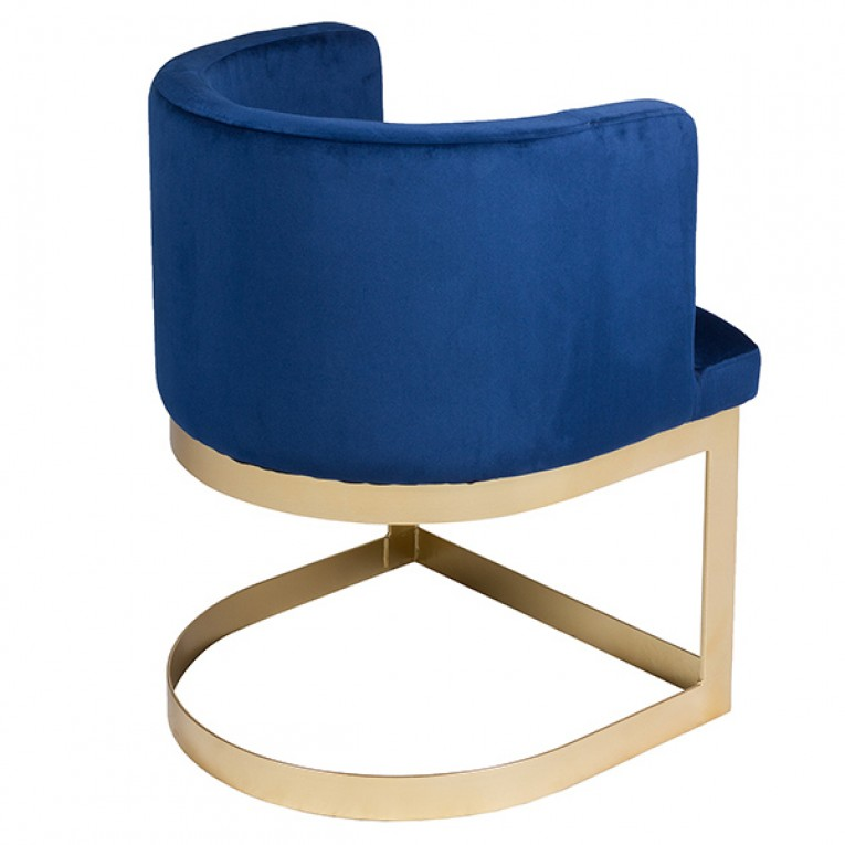 Cadeira de Sala de Jantar Madeira de pinho Azul (60 X 55 x 76 cm)