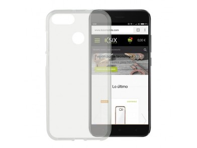 Capa para Telemóvel Xiaomi Mi A1 Flex TPU Transparente