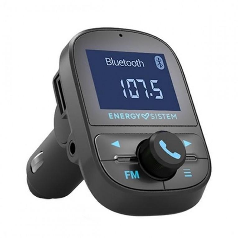 Reprodutor MP3 e Transmissor FM Bluetooth para Auto Energy Sistem 447268 USB Preto