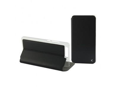 Capa tipo Livro para o Telemóvel Huawei P10 Lite Slim Preto