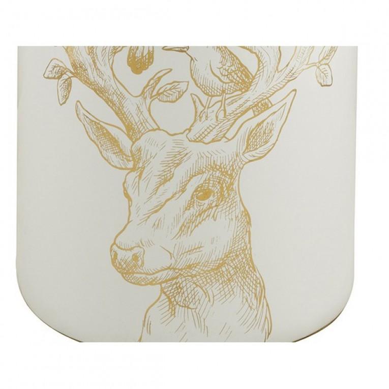 Tibor (20 x 20 x 40 cm) Cerâmica Dourado