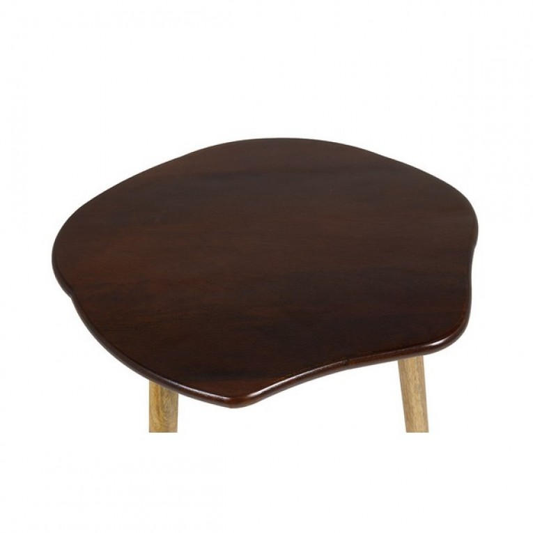 Conjunto de 3 mesas pequenas Madeira de mangueira