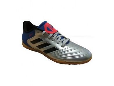 Chuteiras de Futebol de Salão Infantis Adidas Copa Tango 18.4 IN Junior Cinzento Azul