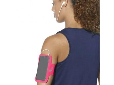 Bracelete Desportiva com Saída para Auriculares Asics MP3 Arm Tube Cor de rosa
