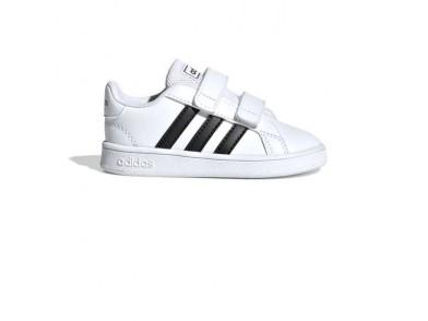 Sapatilhas de Desporto para Bebés Adidas Grand Court I Branco Preto