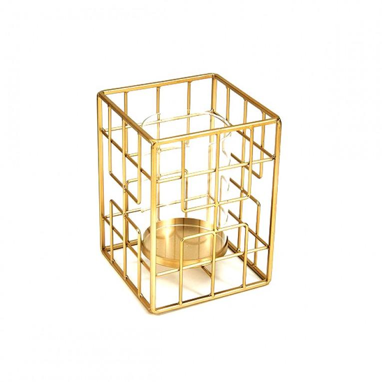 Candelabro Square Dourado