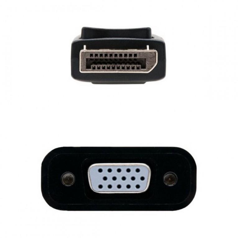 Adaptador DisplayPort para SVGA NANOCABLE 10.16.0602 Preto (15 Cm)