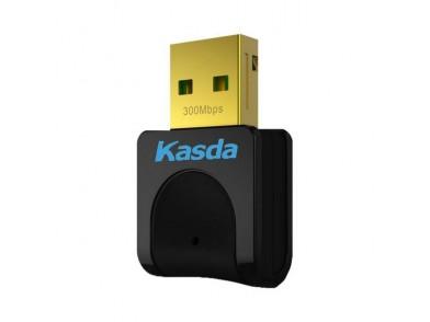 Carta de Rede Wi-fi Kasda KW5312 N300 2.4 GHz Preto