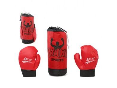 Saco de Boxe & Luvas Vermelho 118020