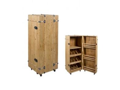 Suporte para garrafas Cabinet Madeira de abeto (126 X 50 x 50 cm)
